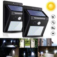 Waterproof 30 LED Solar Power PIR Motion Sensor Wall Light Outdoor Yard Lamp