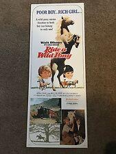 "1975 Walt Disney Ride a Wild Pony Original Window Insert Poster 36"" 14"" - Estate"