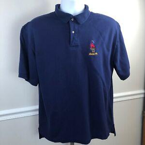 Vintage  1996 Atlanta USA Olympics blue  Hanes Active Wear golf  Polo Shirt XL