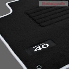 Velours Fußmatten Logo Edition silber für Hyundai i40 CW Kombi ab Bj.2011 -