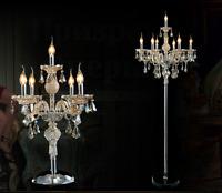 Véritable K9 Chandelier Cristal Sol Lampe / Table Champagne Couleur 5,7 Lumières