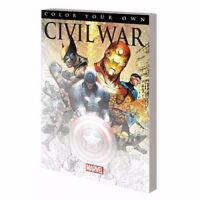 New Marvel Civil War Coloring Book Captain America