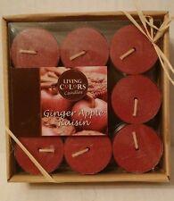 Ginger Apple Raisin 27 pk Tea Light Harvest Thanksgiving Living Colors Candles