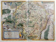 1612 Vrients / Ortelius LUXEMBOURG Original Antique map  Luxemburg - Lussemburgo