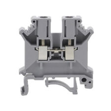 4PCS CE UK-3N DIN Rail Mount Guide Terminal Block 800V 32A 2.5mm2 Cable Gray