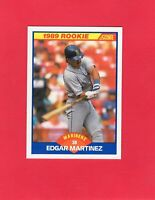 1989 Score ROOKIE Rc baseball #637  EDGAR MARTINEZ Seattle Mariners Hall of Fame