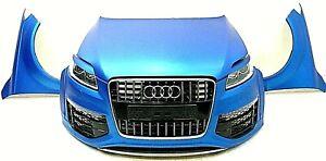 Original Audi Q7 4L V12 Front Kotflügel Haube Grill Xenon blau foliert Int. V12