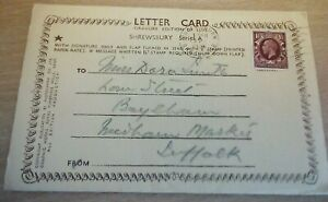6 View Letter Card Shrewsbury Shropshire posted 1936