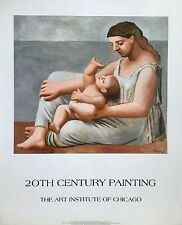 PICASSO ART POSTER 1921 Mother & Child Art Institute of CHICAGO museum print