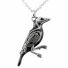 Crow Necklace Rave N Bone Pendant Bird Skeleton Jewelry Stainless Steel Controse