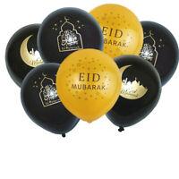 Muslim Festival Latex Balloons Eid Mubarak Decoration Ramadan Kareen Gold Black