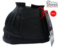 SALE One Pair Shires Rubber Bell Over Reach Horse Pony Boots Touch Close  BLACK