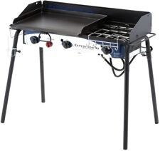 Camp Chef Expedition 3X 3-Burner Propane Gas Grill in Black with Griddle BBQ
