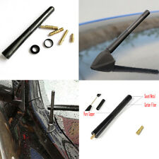 4.7 inches Universal Car Antenna Carbon Fiber Radio FM Antena Black Kit+Screw YU