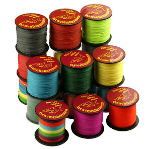 Bravefishermen Testing 100M 109Yards Test PE Braided Fishing Line 10-100LB