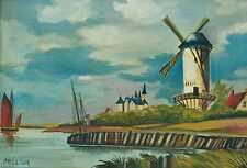 """McGregor, P (XX)  Moulin à Vent 14"""" x 19 ¾"""" Oil on canvas EC0196"""