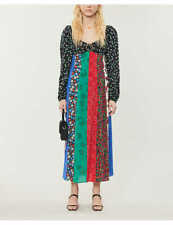 New RIXO Ivy floral-print silk-crepe midi dress - Medium , Last One!!