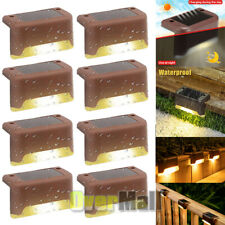 8PCs Solar LED Bright Lights Safety Light for Pathway Driveway Dock Path Deck