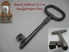 antiker Barock Schlüssel Handgeschmiedet 10,5 cm Truhenschlüssel Schranktür