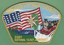NORTHEAST ILLINOIS COUNCIL 129 2001 NATIONAL JAMBOREE BOY SCOUT CSP PATCH S34