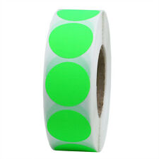 """1"""" Round Blank Fluorescent Green Shooting Target Pasters"""