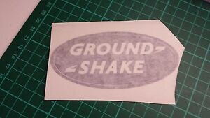 GROUND SHAKE Oval decals more variations, 4x4 truck, car,van,lorry