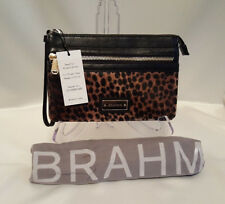 ❤️ BRAHMIN WINNIE WRISTLET WITH CALF HAIR FRONT / LEATHER BACK + WRIST STRAP ❤️