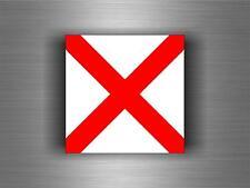 Sticker adesivi   codice internazionale nautica bandiera V VICTOR segnalazione