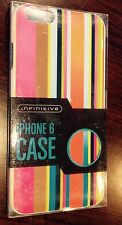 Infinitive iPhone 6 Cell Phone Case, Multicolor Stripes BRAND NEW