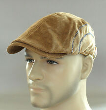 New Auth Men's Trevero Driver Duckbill Ivy Hat Gatsby Cap Newsboy Beret S/M Kh