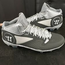 Mens Warrior Lacrosse Cleats Size 13 Gray White Blue Adonis Rugby Football