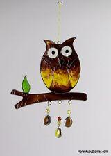 Owl Suncatcher tree, window ornament or garden mobile FREE SHIPPING