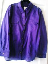 Chico 3, purple, long sleeve, ramie&cotton,button down shirt