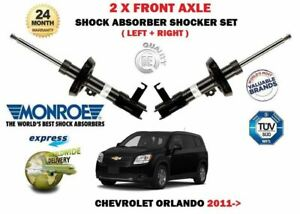 FOR CHEVROLET ORLANDO 2011 > NEW 2X FRONT LEFT RIGHT SHOCK ABSORBER SHOCKER SET