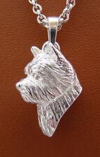 Sterling Silver Norwich Terrier Head Study Pendant
