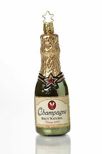 Inge Glas - Champagner Weihnachtsschmuck Christbaumschmuck Christbaumkugel Deko