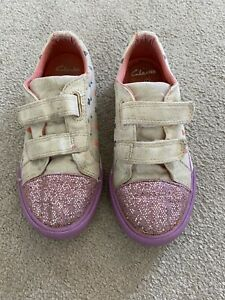 Girls Childs Kids Infant clarks Purple Pink Trainers Shoes size 10 F