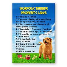 Norfolk Terrier Property Laws Fridge Magnet Dog Funny