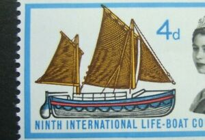 💥MNH 1963 LIFEBOAT 4d with LOVELY  'FLOATING SAILS' ERROR, VARIETY - SG. 640💥