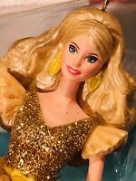 2020 Hallmark Holiday Barbie Gold Dress CHRISTMAS ORNAMENT NIB -Beautiful