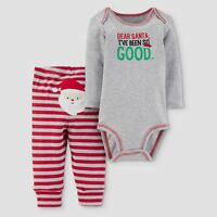 Baby Boys' 2pc Dear Santa Bodysuit and Pants Set - Just One You NB 3M 6M 9M