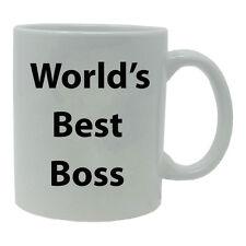 World's Best Boss 11 Ounce White Ceramic Coffee Mug