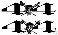 """4X4"" w/SKULL&SWORD  DECALS, Ford,Dodge,Chevy,GMC, etc"