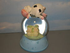 Blue Baby Shoes Snow Globe 7 inch Tall Fine Infant Snow Globe