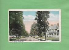 Looking Down RIVER STREET In SIDNEY, NY On Vintage 100 Year-Old Postcard