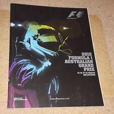 2012 AUSTRALIAN GRAND PRIX F1 PROGRAMME (Formula 1)
