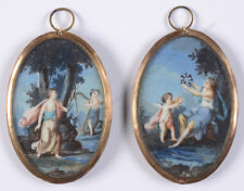 """Jacques Charlier-Manner """"Two miniatures with allegorical scenes"""", 18th century"""