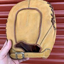 Vtg c. 1930's Hutch First Baseman's Buckle Back Baseball Glove Mitt SUPER NICE