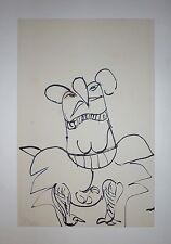 Silva Julio encre sur papier signée datée 1966 surréalisme art abstrait argentin