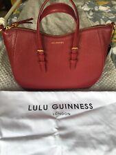 Bnwt Lulu Guinness Medium Julia Tote China Red